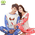 GOPLUS New Fashion Couple Lovers Pajama Sets Men Women Cartoon Pajamas Autumn winter Soft Pants Pyjamas Female Male Sleepwearing