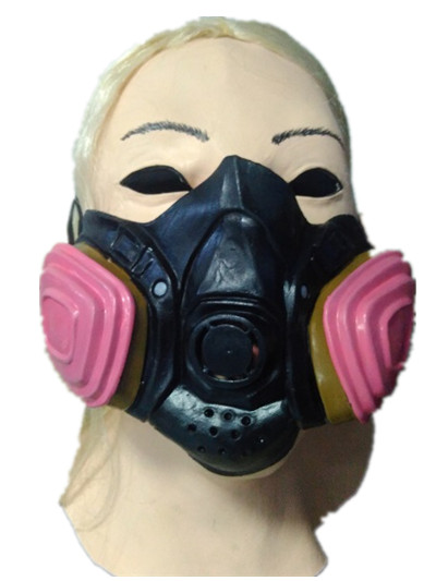Hot Sale Halloween Half Face Mask Funny Performance of Latex Masks-Drum Gas Face