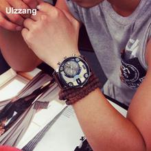 Men High Quality Leather Quartz Watch (2 colors)