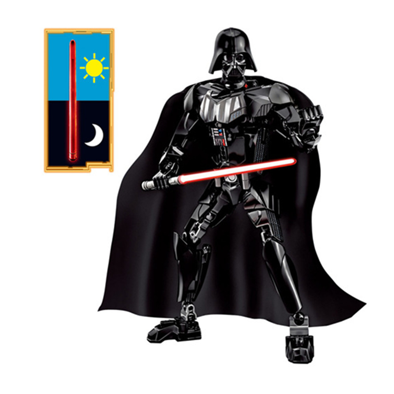 KSZ Star Wars 7 Kylo Ren Darth Vader with Lightsaber Storm Trooper Figure Blocks Building DIY Toys For Children Compatible