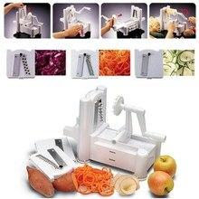 Küche Werkzeug 3 in 1 Slicer Julienne Cutter Spiralgemüseschneider Spiralizer Obst Veggie Chopper Cutter Twister Schäler