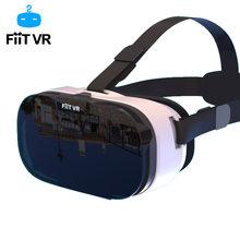 Fiit 2n vr óculos fone de ouvido 3d caixa óculos de realidade virtual móvel 3d vídeo capacete para 4.0-6.5 polegada telefone inteligente bluetooth controll