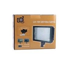 De alta Potencia Lightdow LD-160 160 Lámpara de Luz de Vídeo LED Videocámara de La Cámara con Tres Filtros 5400 K
