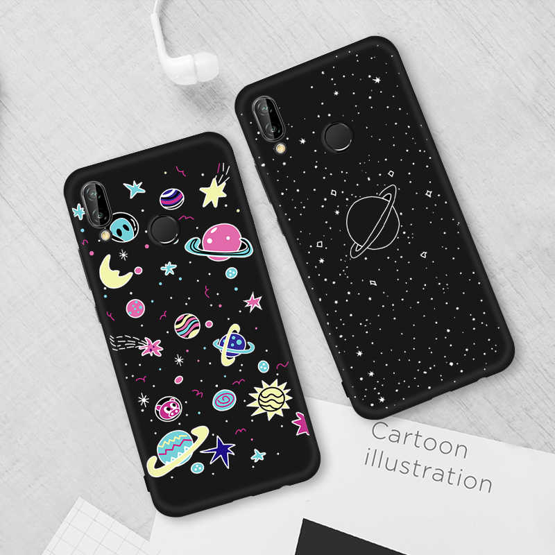 Phone TPU Cover For Huawei Nova 3 3i P20 Pro Mate 10 20 X Lite P10 Space Pattern Cases For Honor 8X Max Note 10 9 8 Lite 7X 8C