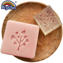 Heart Tree Design Handmade White Resin Soap Stamp Stamping Mold Craft Drop Chapter Z0061DS