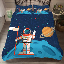 A Bedding Set 3D Printed Duvet Cover Bed Space astronaut Home Textiles for Adults Bedclothes with Pillowcase #ETTK10