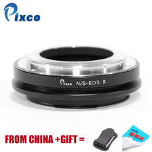 Pixco For Nikon S-For EOS R, Lens Adapter Suit For Nikon S Lens to Suit for EOS R Camera ламинат clix floor clix floor excellent cxt 102 дуб ливерпуль 1380x190x12 мм
