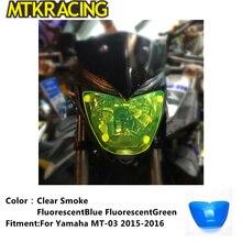 MTKRACING MT-03 Motorcycle Acrylic Headlight protection sheet Screen Cover For Yamaha 2015-2016