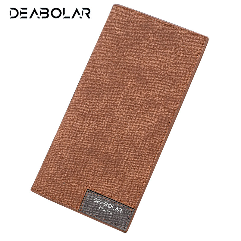 DEABOLAR 2017 Vintage Thin Men Wallet Big Capacity Fashion Famous Brand Male Wallets Purses with Card Holder for Men Gift designer men wallets famous brand men long wallet clutch male money purses wrist strap wallet big capacity phone bag card holder