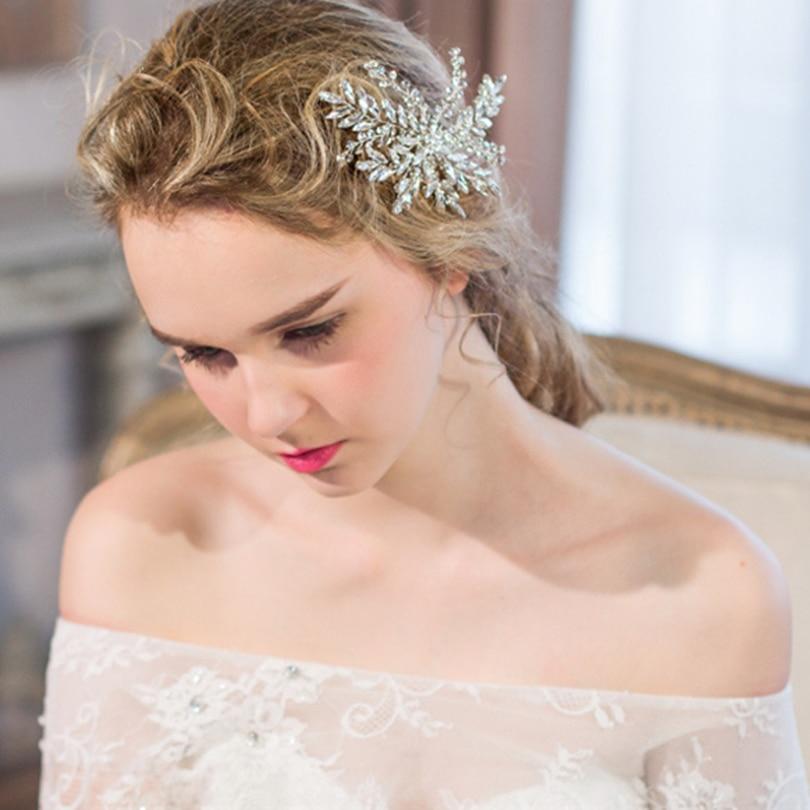 Victorian Style Wedding Hair: Victorian Handmade Silver Color CZ Rhinestones Wedding