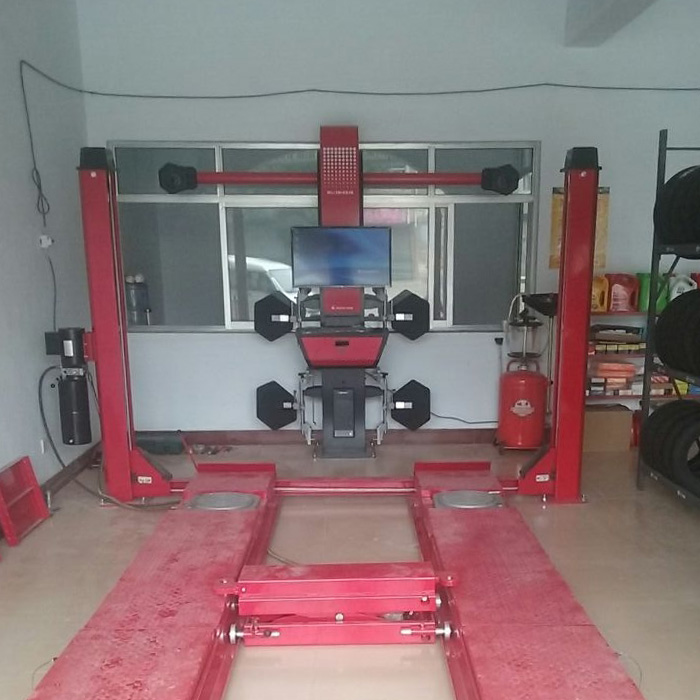 US $6360 0 |Extensive used 3D wheel Alignment Machine Modle ML 3D 2S Four  Post Car Lift With Four Wheel Aligner Sale Together on Aliexpress com |