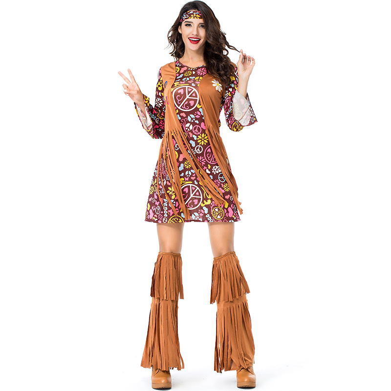 Adult Fringed Native Indians Aboriginal Costume Cosplay For Woman Carnival Halloween Hip Hop Party Fancy Dress Costumes