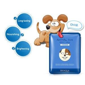 Image 4 - BIOAQUA 1 pcs Skin Care Sheep/Panda/Dog/Tiger Facial Mask Moisturizing Cute Animal Face Masks