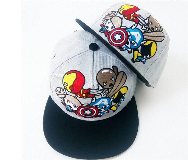 parent child cute dc iron man captain hat letter snap back baseball cap hip hop flash ac universe online