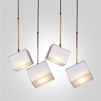 Hanging Cube Lamp 13*18cm , coating in Golden or Brown