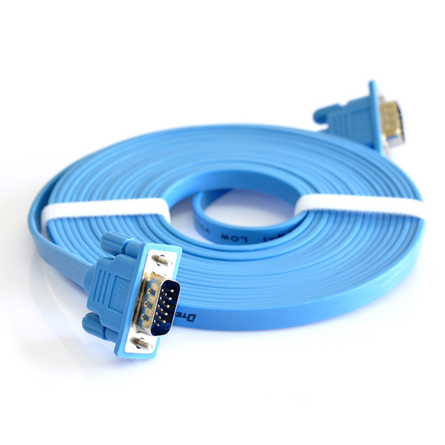 Vga cable flat vga line computer display tv data cable 3 meters 10 ...
