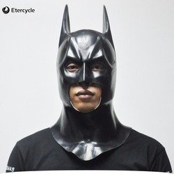 باتمان أقنعة الكبار هالوين قناع كامل الوجه اللاتكس كاريتاس فيلم بروس واين تأثيري لعبة الدعائم