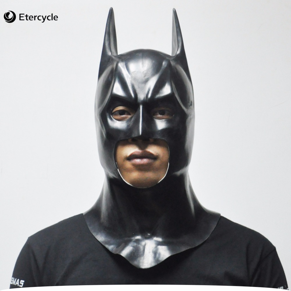 Batman Masks Adult Maschera di Halloween Full Face Latex Caretas Movie Bruce Wayne Cosplay Puntelli giocattolo