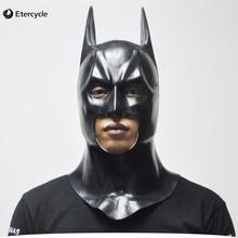 Batman máscaras de halloween para adultos máscara de la cara llena de látex película de bruce wayne caretas cosplay accesorios de juguete