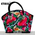 Double Faced National Trend Embroidery Handbag Canvas Boho Embroidered Shoulder Shopper Bag Luxury Designer Famous Brand Logo