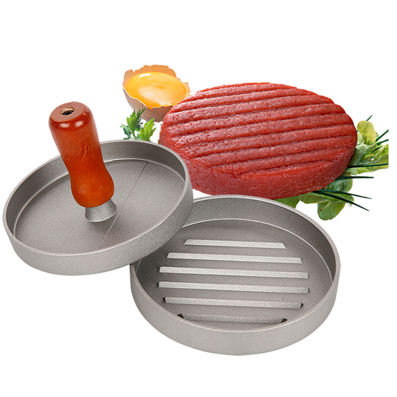 Metal Patty Make Hamburger Pressesr Machine Meatloaf Stainless steel Mold Hamburger Presses Patties 4.7inch image