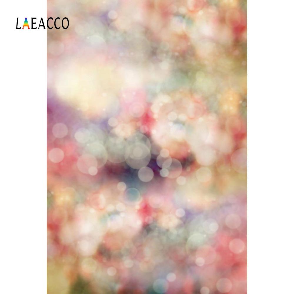 Laeacco Dreamy Light Bokeh Portrait 어린이 사진 배경 5x7ft - 카메라 및 사진