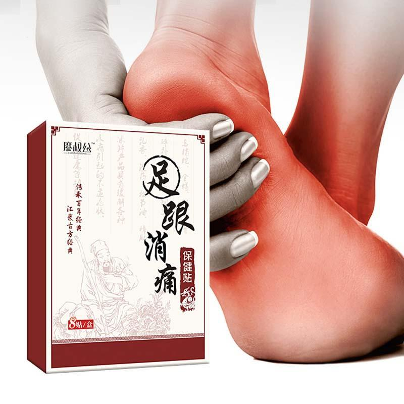 8Pcs/Pack Heel Pain Plaster Health Care Foot Paste Relieving Plasters Comfortable Chinese Herbal Medicine Improve Sleep Patch Z4