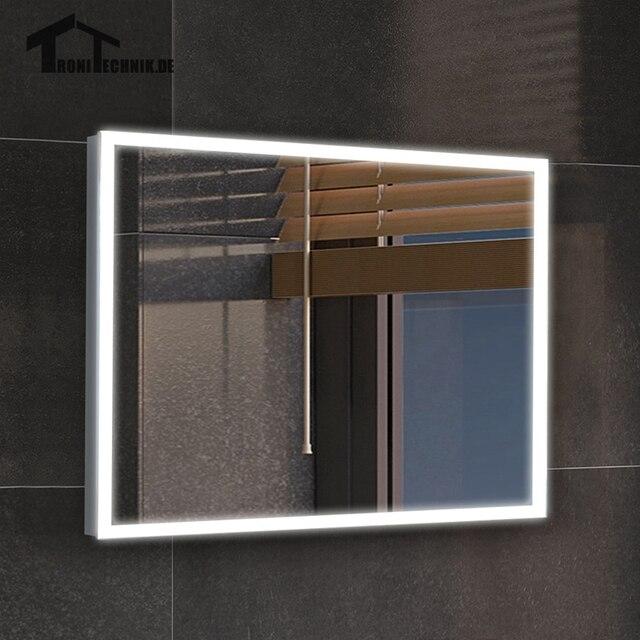 Glazen Wand Bad.Us 899 99 50x70 Cm Frame Verlichte Badkamer Spiegels Led Glazen Wand Spiegel Ip44 N E102 5070 Muur 90 240 V Spiegel Bad Spiegel In Badkamer In 50x70