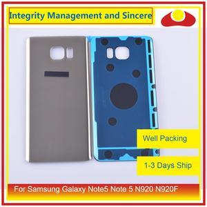 Image 4 - 50 adet/grup Samsung Galaxy Note5 not 5 N920 N920F batarya muhafazası kapı arka arka cam kapak kılıf şasi kabuğu