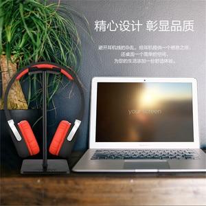 Image 4 - Alloy Headphone Stand Stable Headset Bracket Display Shelf Computer Gaming Holder Rack Non slip Earphone Vertical Bracket Hanger