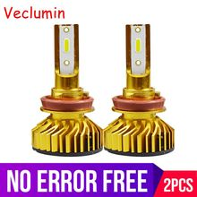 Gold Mini H1 H11 H8 HB3 9005 HB4 9006 H4 H7 LED Canbus Decoder Auto Automobile Car Headlight Bulbs 72W 10000LM 6000K 12V