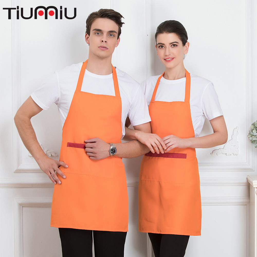 New Kitchen Restaurant Apron Hotel Gourmet Cooking Work Clothes Dirtyproof Cake Grill Chef Waiter Waitress Dining Hall Party