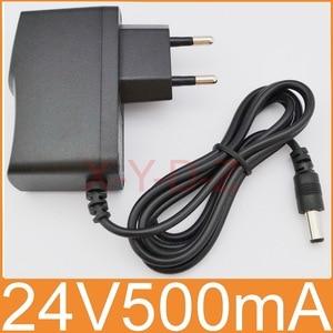 Image 1 - 1PCS High quality DC 24V 500mA IC program AC 100V 240V Converter Switching power adapter Supply EU Plug DC 5.5mm x 2.1 2.5mm