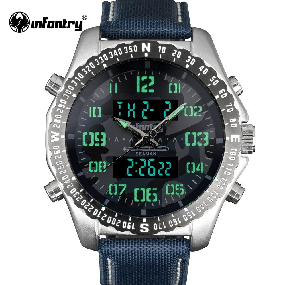 INFANTRY Military Watch Men LED Digital Quartz Mens Watches Top Brand Luxury Aviator Army Pilot Sport Blue Relogio Masculino все цены