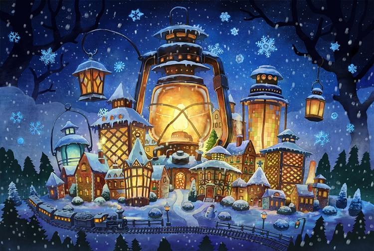 1000 pièces les puzzles en bois château de neige chaud conte de fées monde puzzle blanc carte adulte jouets éducatifs pour enfants