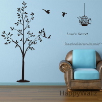 Tree Wall Sticker Cute Tree Wall Decal DIY Decorative Wall Stickers Removable Wall Decoration T13