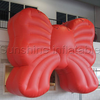 New popular giant red inflatable bow tie model for party decoration