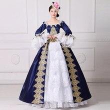 Высокое качество, г., голубое платье с квадратным воротником и длинными расклешенными рукавами, вечерние платья с вышивкой, бальные платья принцессы для выступлений на сцене x18 в