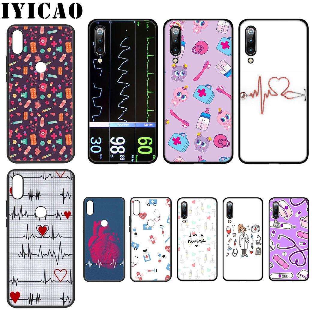IYICAO Nurse Medicine Health Heart Soft Case for Xiaomi Mi 6 8 9 SE A1 A2 Lite F1 9T A3 Pro CC9E CC9 MAX 3 5X 6X Cover