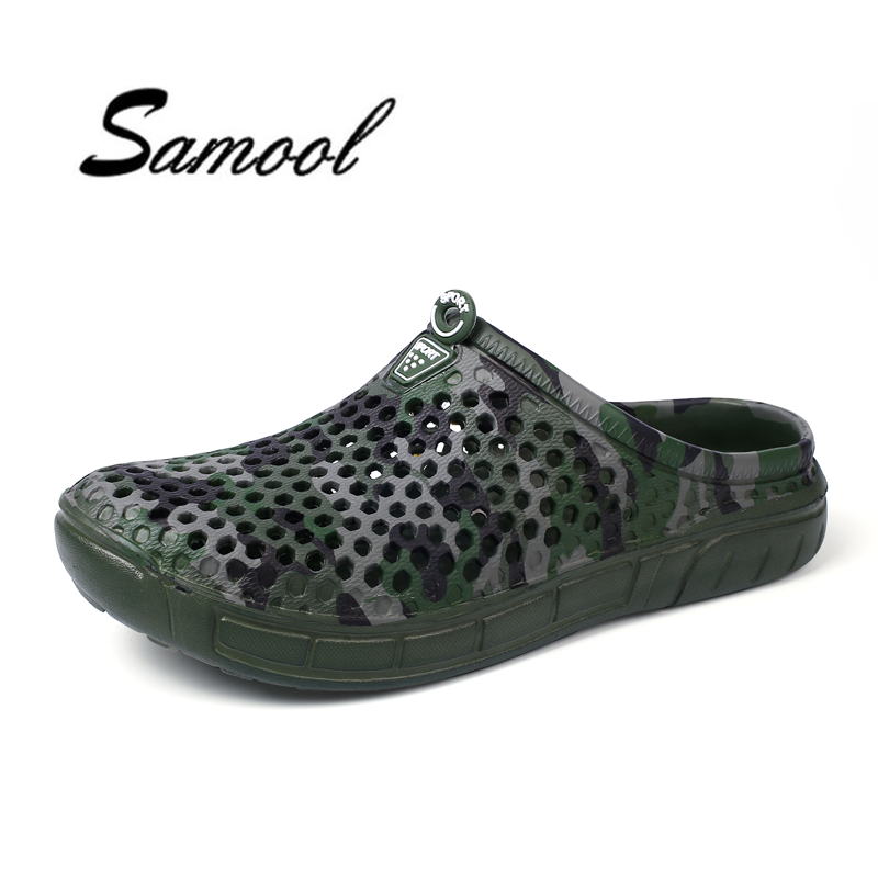 Summer Beach Men Hole Sandals Light weight Spring shoes for man non-slip Breathable slippers Hollowing Out Camouflage shoes lx5