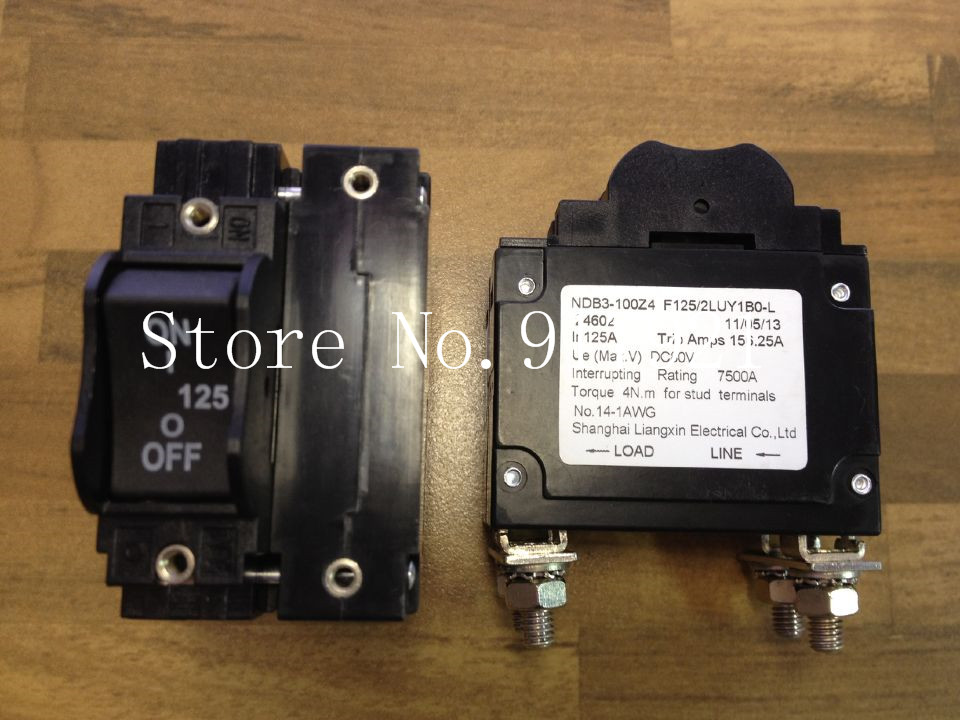 [ZOB] Nader NDB3-100Z4 F125/2LUY1BO-L letter 1P125A air switch circuit breaker device  --5pcs/lot leakage circuit protector air switch residual current circuit breaker dz15le 100 490 100a