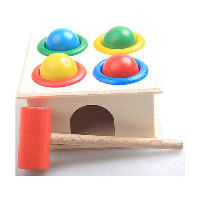 Children Early Learning Educational Toys Baby Hammering Wooden Ball Hammer Box Geometric Blocks Kids Newborn Fun Playing Gifts Y die vermessung der weit