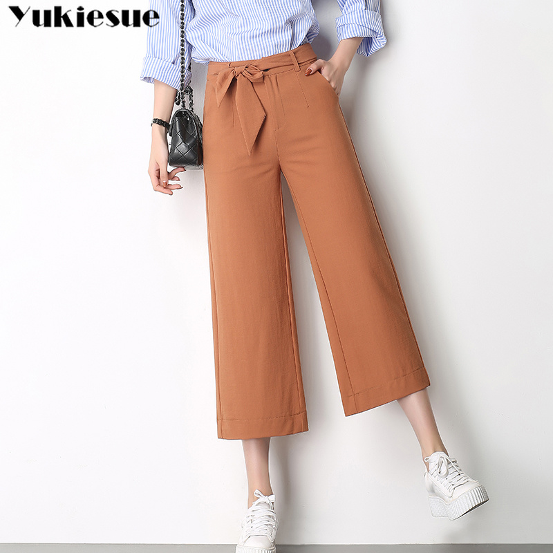 Wide     leg     pants   for women trousers OL office summer streetwear 2019 women's   pants   capris female trousers Plus size straight   pants