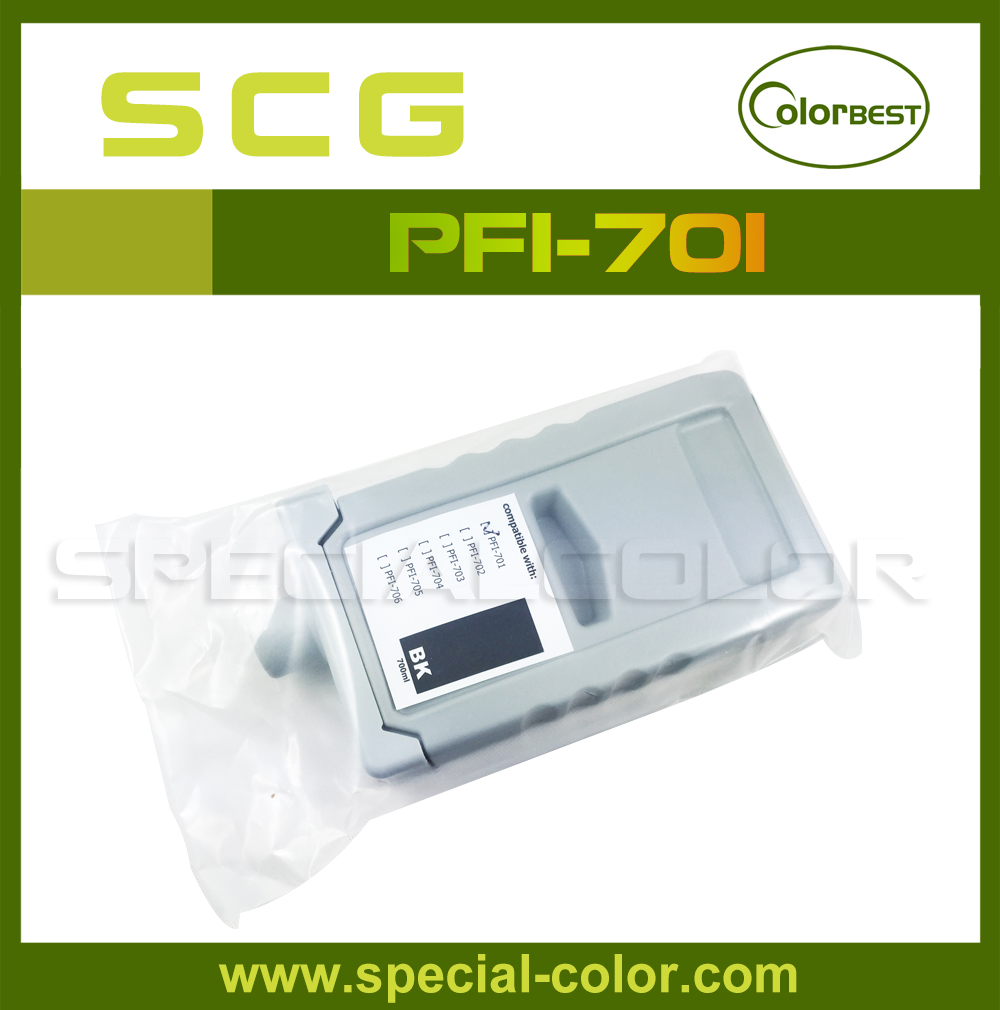 700ml Pigment ink cartridge PFI-701 Black with chip Full Ink Tank for IPF 8100/8110