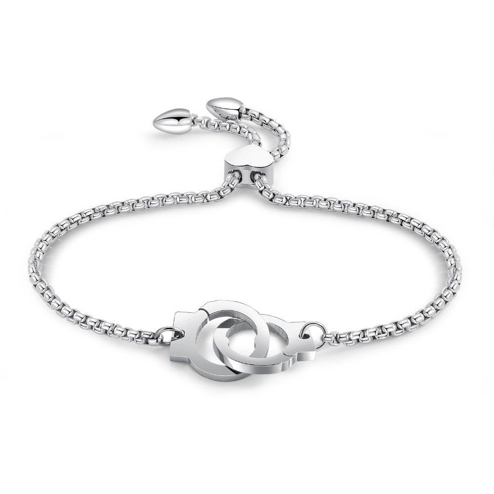 Jewelry Mini Handcuff Charm Bracelet