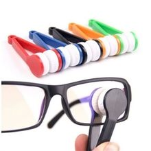 * 1pcs Mini Microfibre Glasses Cleaner Microfibre Spectacles Sunglasses Eyeglass Cleaner Clean Wipe Tools Random sent color0.28(China)