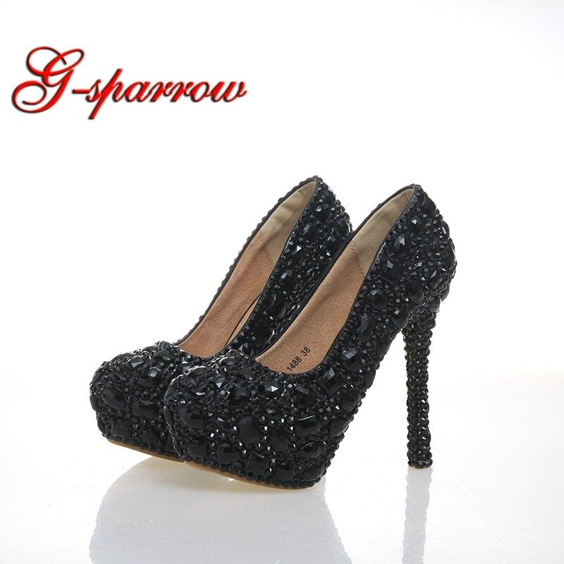 Rhinestone Crystal Bridal Shoes Women