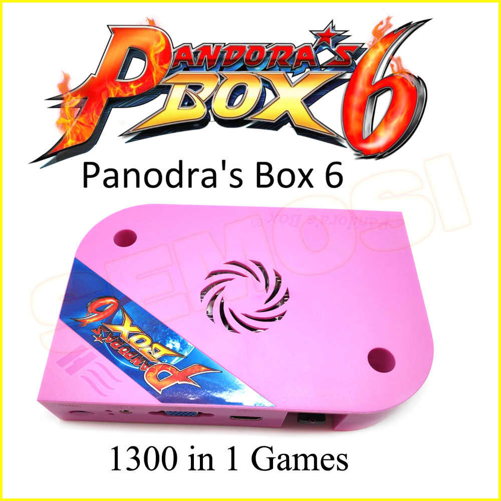 Pandoras box 6 1300 in 1 jamma 아케이드 버전 게임 보드 (jamma harness 포함) cga vga hdmi 출력 crt hd 720 mame ps1 지원