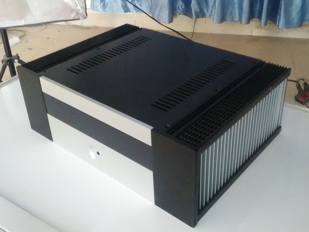 Power amplifier chassis aluminum case power amp shell for Chassis aluminium