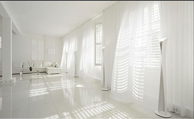 150 cm * 270 cm Pure Witte Voile Sjaal Gordijn Panel Sets Gordijnen ...